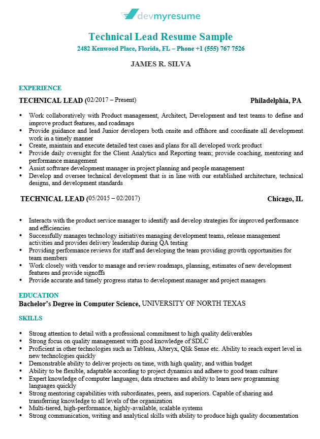 Great Technical Resume Examples 75