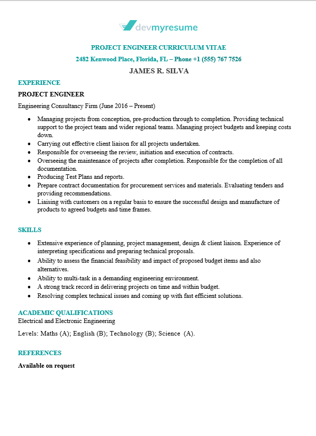 Information Technology (IT) Resume | Devmyresume.com