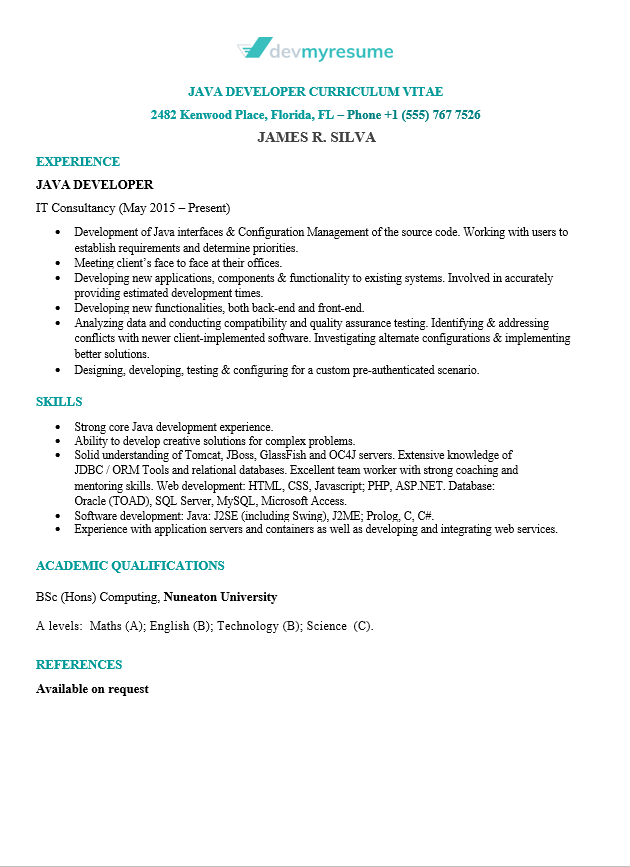 it professional resume samples