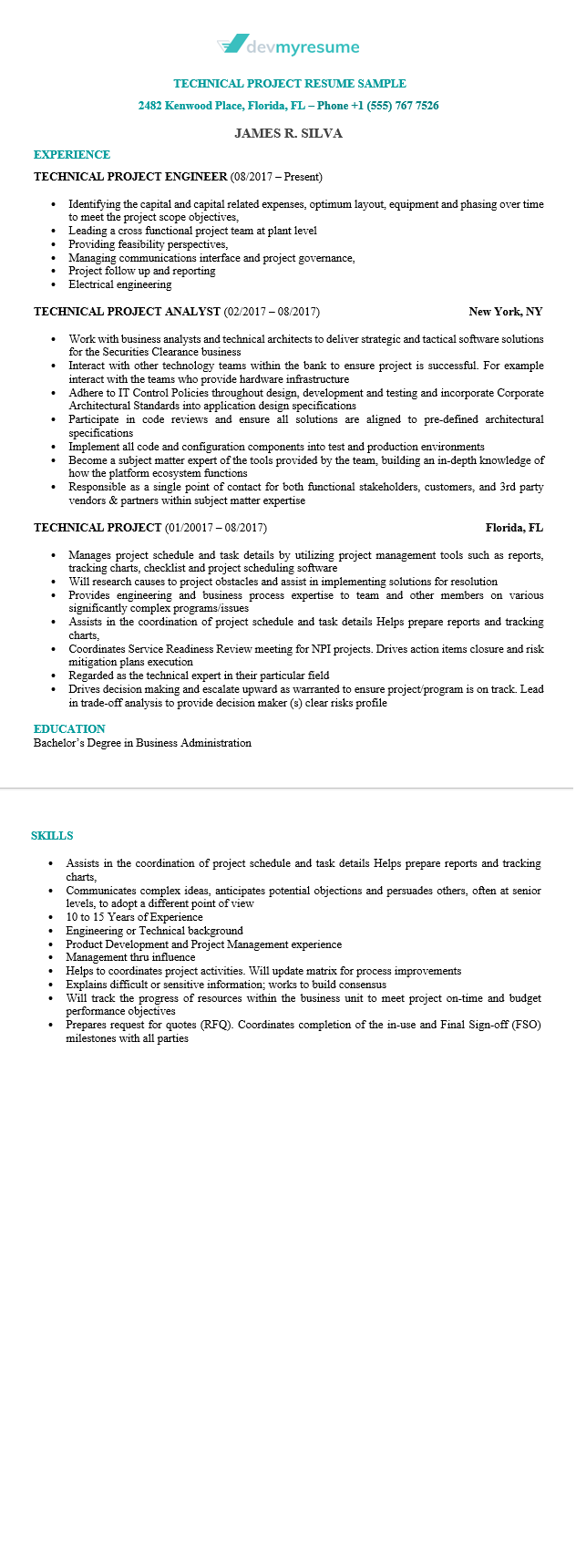 Great Technical Resume Examples 56
